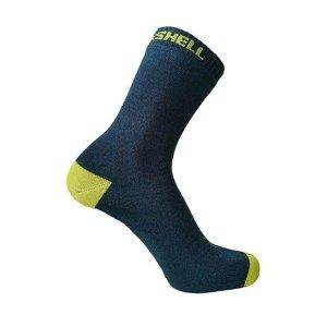 Nepromokavé ponožky DexShell Ultra Thin Crew Farba Navy-Lime, Veľkosť S