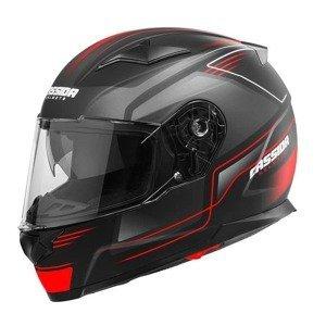 Moto prilba Cassida Apex Fusion Farba čierna matná/červená fluo/biela, Veľkosť XS (53-54)