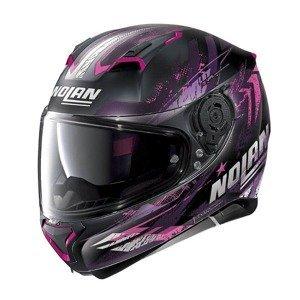 Moto prilba Nolan N87 Carnival N-Com Farba Flat Black-Purple, Veľkosť L (59-60)