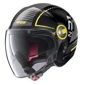 Moto prilba Nolan N21 Visor Runabout Farba Metal Black-Yellow, Veľkosť S (53-54)