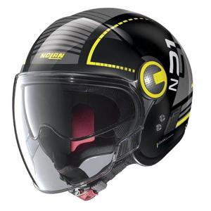 Moto prilba Nolan N21 Visor Runabout Farba Metal Black-Yellow, Veľkosť XL (61-62)