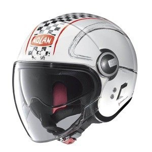 Moto prilba Nolan N21 Visor Getaway Farba Metal White-Red, Veľkosť XS (53-54)