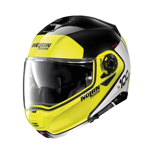 Moto prilba Nolan N100-5 Plus Distinctive N-Com P/J Farba Glossy Black-Fluo, Veľkosť L (59-60)