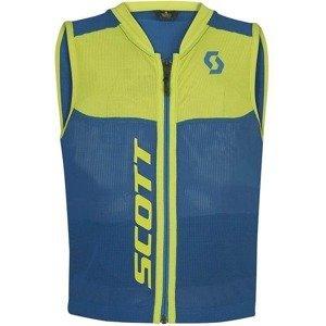 Detská vesta s chráničom chrbtice Scott Actifit Plus Jr Farba modrá/zelená, Veľkosť XS