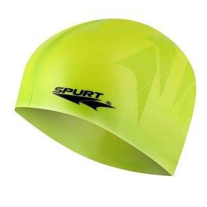 Silikonová čepice SPURT SE23 s plastickým vzorem, zelená