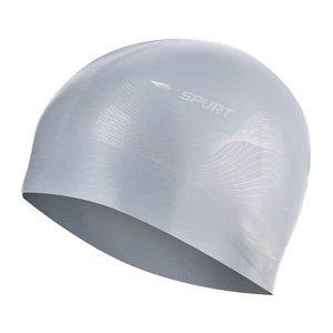 Silikonová čepice SPURT G-Type F210 men se vzorem, šedá