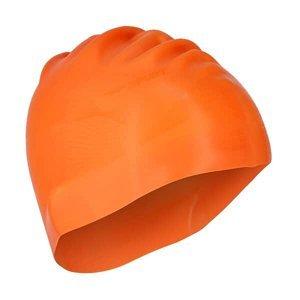 Silikonová čepice SPURT G-Type F202 men se vzorem, oranžová