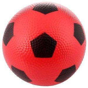 Míček Fotbal gumový míč červená