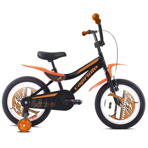 """Dětské kolo Capriolo Kid 16"""" - model 2020 Barva černo-oranžová"""