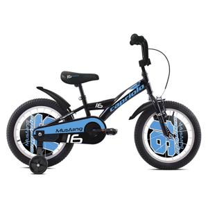 """Dětské kolo Capriolo Mustang 16"""" - model 2020 Barva černo-modrá"""