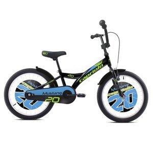 """Dětské kolo Capriolo Mustang 20"""" - model 2020 Barva černo-modrá"""