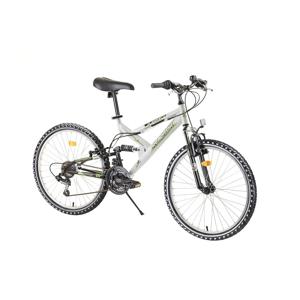 """Juniorský celoodpružený bicykel Reactor Fox 24""""  - model 2020 Farba White"""