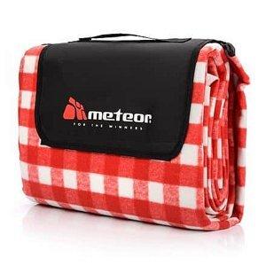 Checkered pikniková deka červená