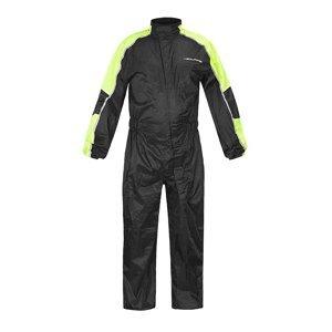 Moto pláštenka NOX/4SQUARE Safety Farba čierna-fluo žltá, Veľkosť S