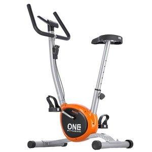 Mechanický rotoped ONE Fitness RW3011 stříbrno-oranžový