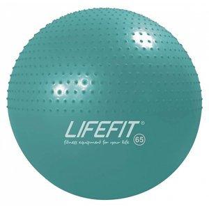 Gymnastický masážní míč LIFEFIT MASSAGE BALL 65 cm, tyrkysový