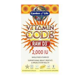 Garden of Life Vitamín D3 - RAW - 2000IU- 120 kapslí