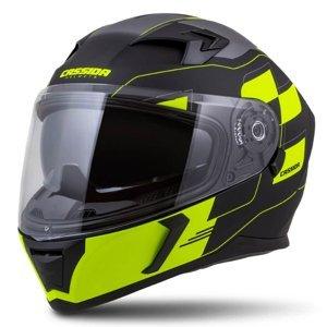 Moto prilba Cassida Integral 3.0 RoxoR Farba čierna matná/žltá fluo/šedá, Veľkosť XL (61-62)