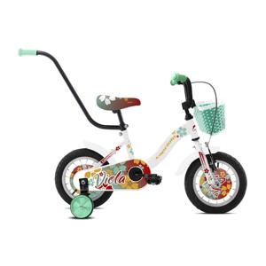 """Dětské kolo Capriolo Viola 12"""" - model 2021 Barva bílo-červeno-tyrkysová"""