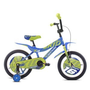 "Dětské kolo Capriolo Kid 16"" - model 2021 Barva modro-limetková"
