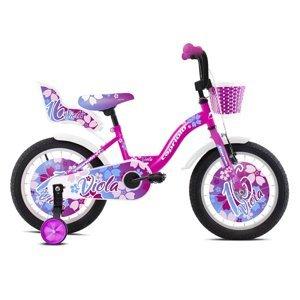 """Dětské kolo Capriolo Viola 16"""" - model 2021 Barva růžovo-bílá"""