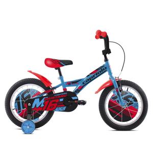 """Dětské kolo Capriolo Mustang 16"""" - model 2021 Barva modro-černo-červená"""