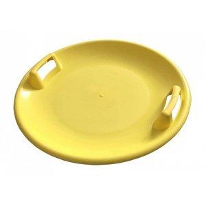 Sáňkovací talíř disk SUPER STAR- červená - Žlutá