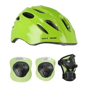 Helma s chrániči NILS Extreme MTW01+H210 zelená VEL.XS