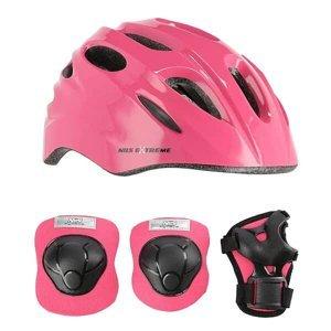 Helma s chrániči NILS Extreme MTW01+H210 růžová VEL.XS
