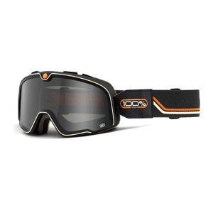 Motokrosové okuliare 100% Barstow Farba Caliber čierna, zrkadlové žlté plexi