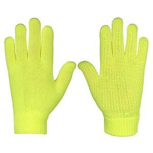 Rukavice pletené žlutá Velikost oblečení: S-M