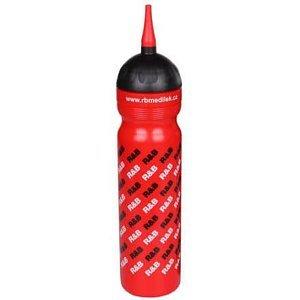 sportovní láhev logo R & B s hubicí červená Objem: 1000 ml