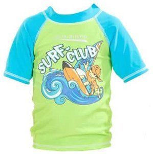 Surf Club tričko s UV ochranou zelená Velikost (obuv): vel. 4