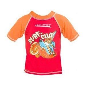 Surf Club tričko s UV ochranou červená Velikost (obuv): vel. 4