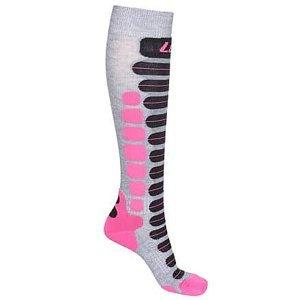 Skiing 2.0 lyžařské ponožky šedá-růžová Velikost (obuv): EU 35-38
