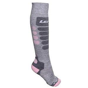 Skiing 3.0 lyžařské ponožky šedá-růžová Velikost (obuv): EU 35-38