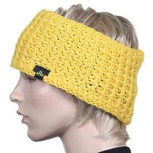 Solid Band dámská čelenka žlutá