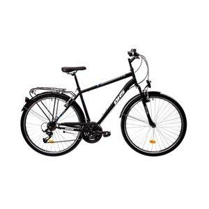 """Pánsky trekingový bicykel DHS 2855 28"""" - model 2021 Farba Black, Veľkosť rámu 20"""""""