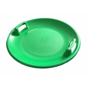 Sáňkovací talíř disk SUPER STAR- červená - Zelená