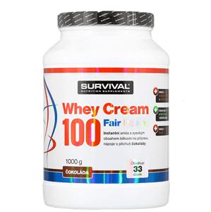 Survival Whey Cream 100 Fair Power 1000 g čokoláda