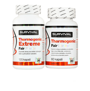 Survival Thermogenic Extreme Fair Power 120 cps + Thermogenic Fair Power 60 cps