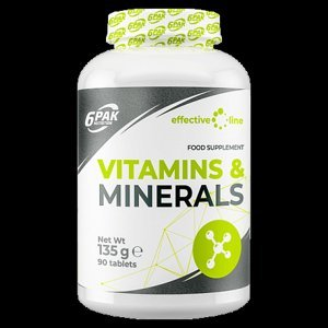 6PAK Nutrition Vitamins and Minerals 90 tablet