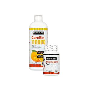 AKCE Survival Carnitin 110000 Fair Power 1000 ml + Thermogenic fair power 60 cps
