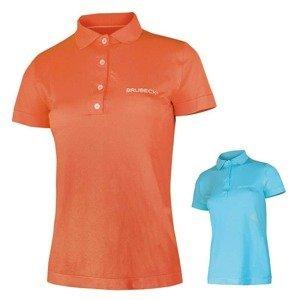 Dámske thermo tričko Brubeck PRESTIGE s golierom Farba oranžová, Veľkosť S