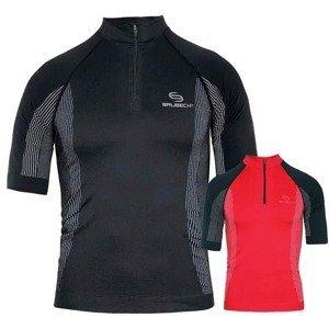 Brubeck Pánské termo triko Brubeck FIT s krátkým rukávem Barva černá, Velikost S Farba červeno-čierna, Veľkosť S