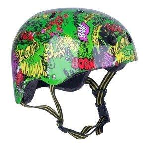 Freestyle prilba WORKER Komik Farba zelená, Veľkosť M (55-58)
