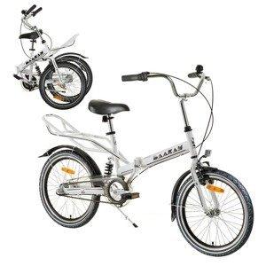 "Odpružený skladací bicykel Reactor Comfort 20"" Farba biela"