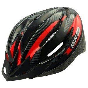 Cyklo přilba SULOV MATTEO, černo-červená Helma velikost: L