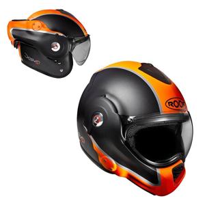 Moto prilba Roof Desmo Flash Mat Farba oranžová, Veľkosť S (55-56)