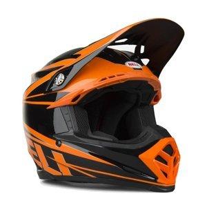Motokrosová prilba BELL Moto-9 Farba oranžovo-čierna, Veľkosť M (57-58)
